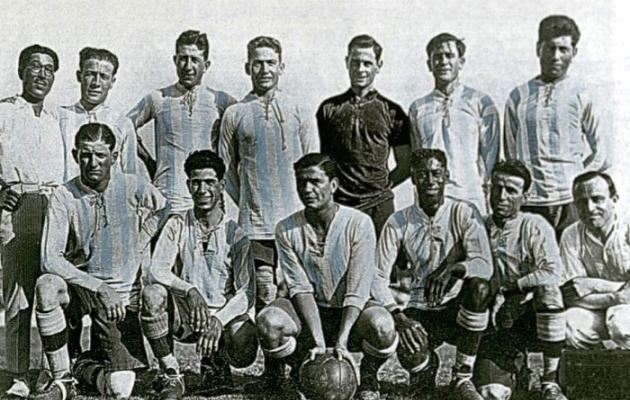 Selección argentina campeona en 1925.