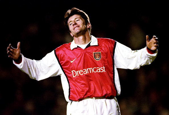 18 Dec 1999: Davor Suker of Arsenal shoots wide against Wimbledon during the FA Carling Premiership match at Highbury in London. The game ended 1-1. Mandatory Credit: Graham Chadwick /Allsport