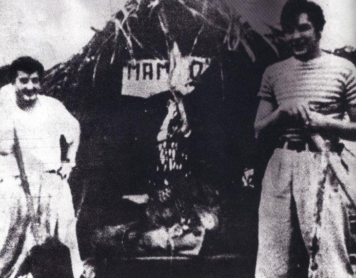 Granado y el Che arriba del Mambo Tango.