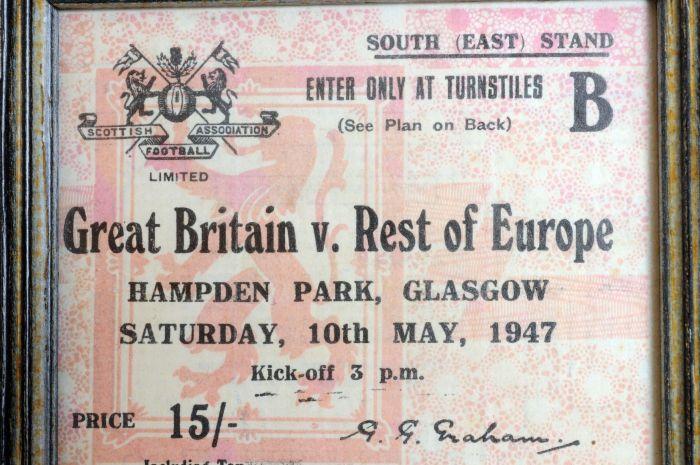 135.000 personas asistieron a Hampden Park en Escocia.