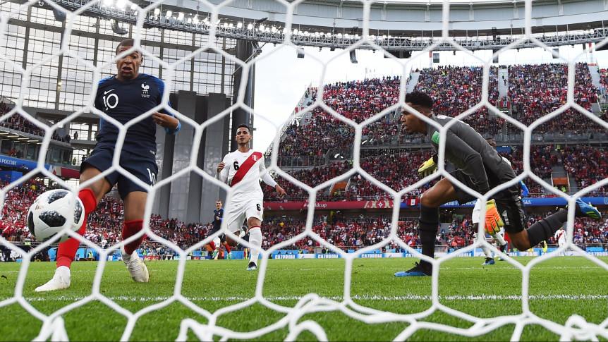 El único gol de Francia.