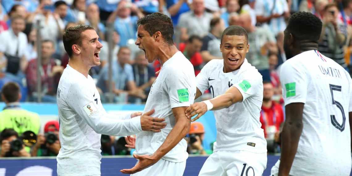 Varane marcó el primer gol.