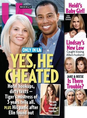 "In this magazine cover image released by US Weekly Magazine, the Dec. 14, 2009 issue of ""US Weekly"" featuring Tiger Woods, is shown. The issue is available nationwide on newsstands on Friday, Dec. 4. (AP Photo/US Weekly)"