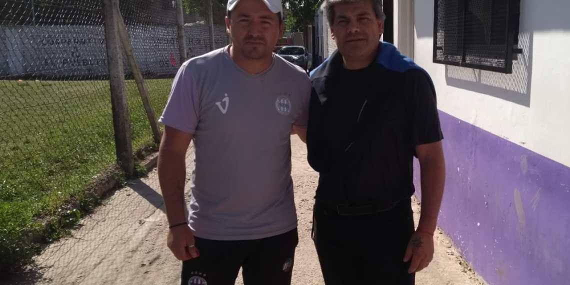 Gustavo junto al DT del equipo: Jonathan Miranda