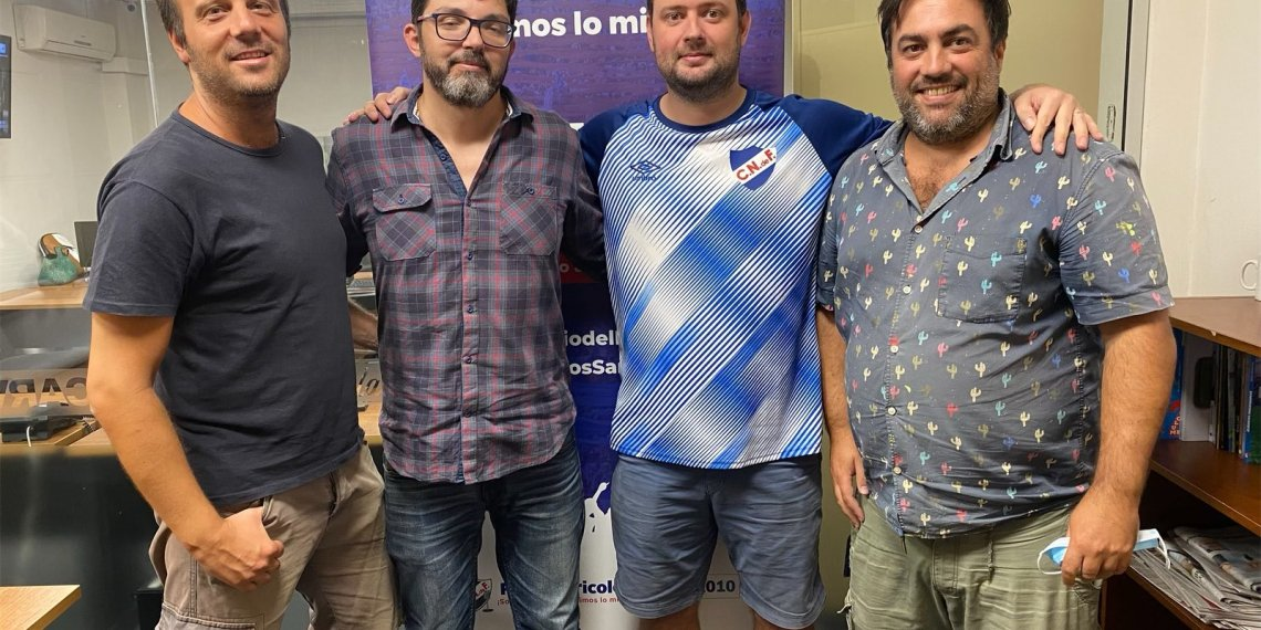 Gonzalo Pérez, Federico Viana, Diego Urrutia, Juan Pablo Flores, los cerebros del proyecto.