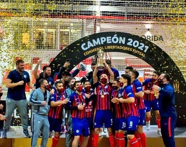 El festejo por la Libertadores.