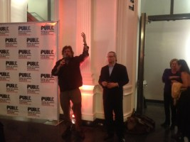 Oskar Eustis and Mark Russell at the opening of the 2013 Under the Radar Festival