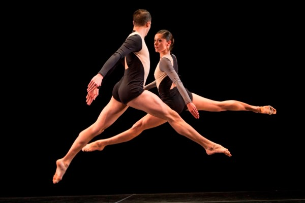 """Joshua Tuason and Melissa Toogood performing """"Locomotor,"""" a work to be featured alongside a restaging of Merce Cunningham's """"RainForest"""" by the Stephen Petronio Company. Photo by Yi-Chun Wu."""