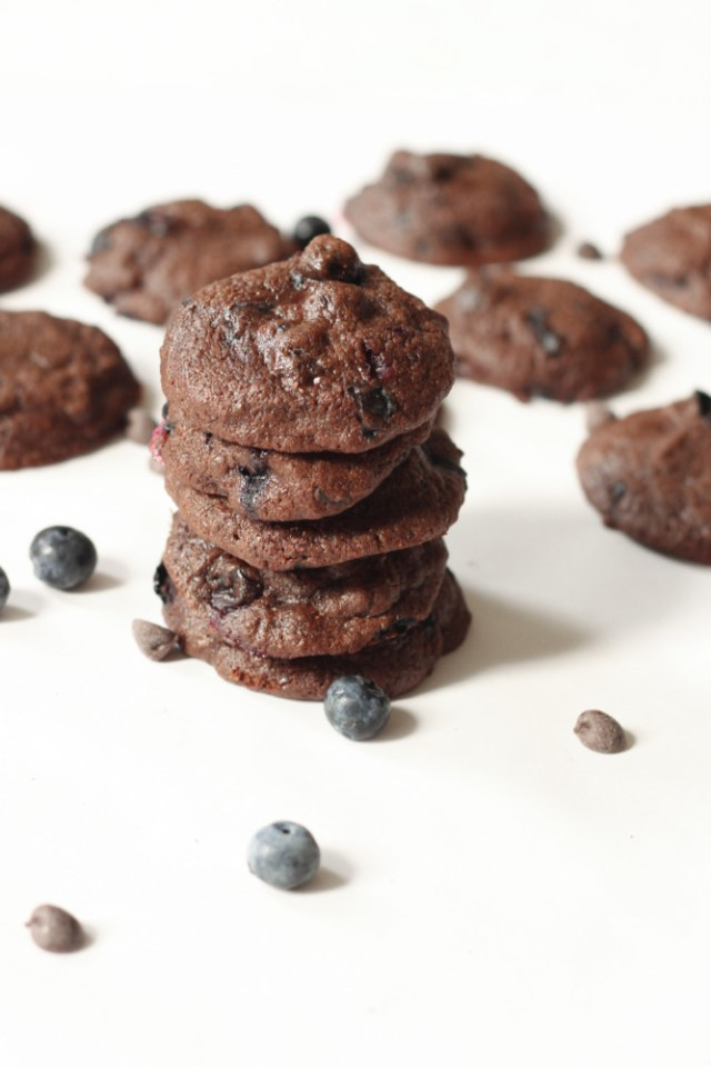 Chocolate Blueberry Cookies - Cupcakes for Dinner