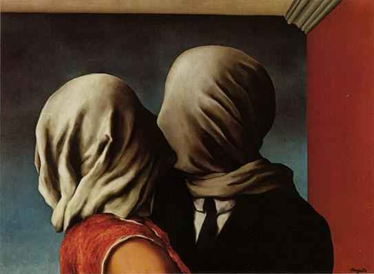 """The Lovers"" by  Rene Magritte"