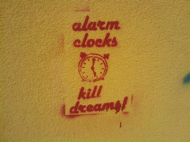 alarm clocks kill dreams