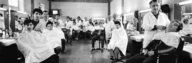 Barbershop, Leninabad, Tajikistan, USSR  Photo by Frederic Brenner