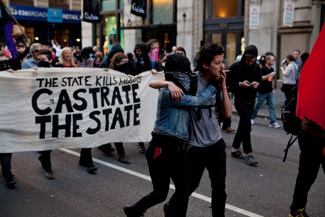 Untitled (May Day, Castrate The State), 2012