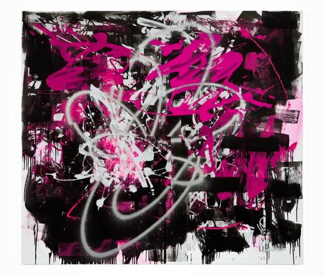 "John Bauer, Trash and Vaudeville, 2009, Oil and enamel on linen, 71"" x 79"""