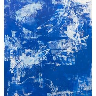 "John Bauer, Untitled, oil and enamel on linen 98.5"" x 78.75"" 250 x 200cm 2014"