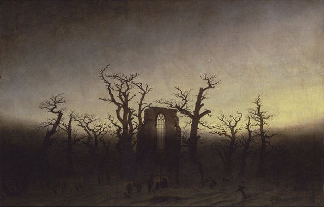 Abbey among Oak Trees Caspar David Friedrich (1774–1840) oil on canvas Current location: Alte National Galerie