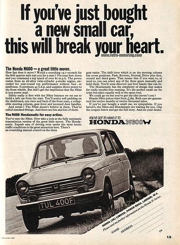 Honda N600 ad UK