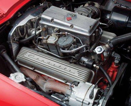 Corvette 1963 327 FI Engine crop