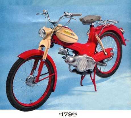 Allstate MopedCoralCream1961