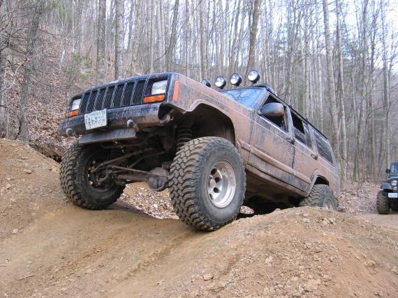 Jeep Cherokee off road