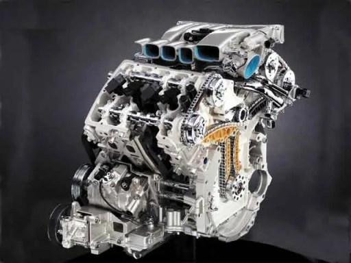 VW W8 engine side