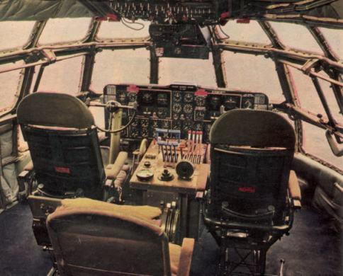Boeing 377 cockpit