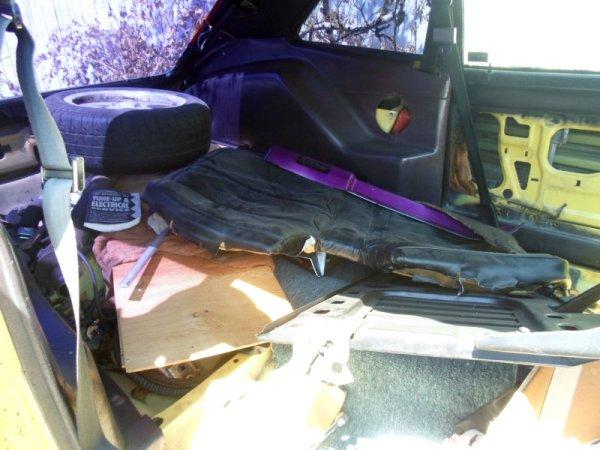 1978 Ford Pinto V6 rear interior