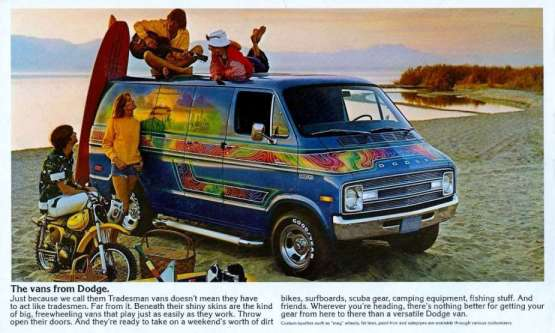 Van 1976 Dodge cutom