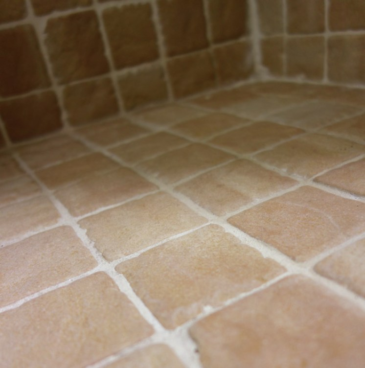 how to clean mold off grout