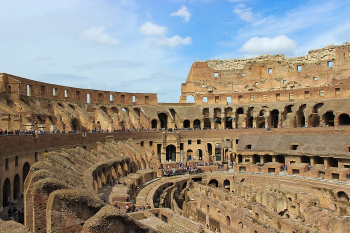 inside of colosseum