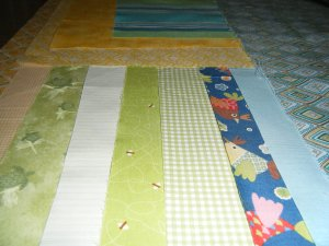 Material all ironed and ready for cutting