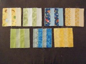 All blocks sewn and ready for sashing