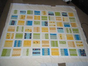 Quilt all basted and ready to quilt