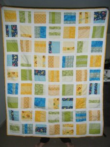 Completed quilt front