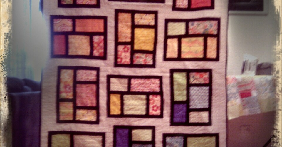 """The front of the """"KItchen window"""" quilt"""