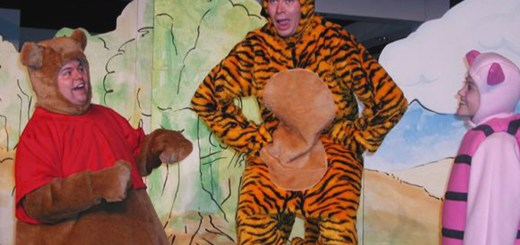 : From left: Winnie-The-Pooh (Darrin Murrell), Tigger (Ben Asaykwee) and Piglet (Jaddy Ciucci) in the 100 Acre Woods. (Submitted photo)