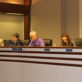 The council discusses the role of an interim mayor. (Photo by James Feichtner)