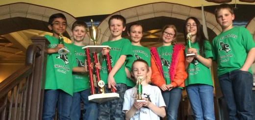 Two teams from Eagle Elementary competed at the state chess tournament, finishing in first and 12th places. They are Naitik Rambhia (from left), Jake Cero, Jack Hargreaves, Maeve Campbell, Zoe Chappell, Allie Johnson, Evan Reynolds and Max Kitchell (front).