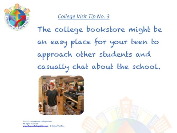 College Visit Tip # 3 - Check out the college bookstore