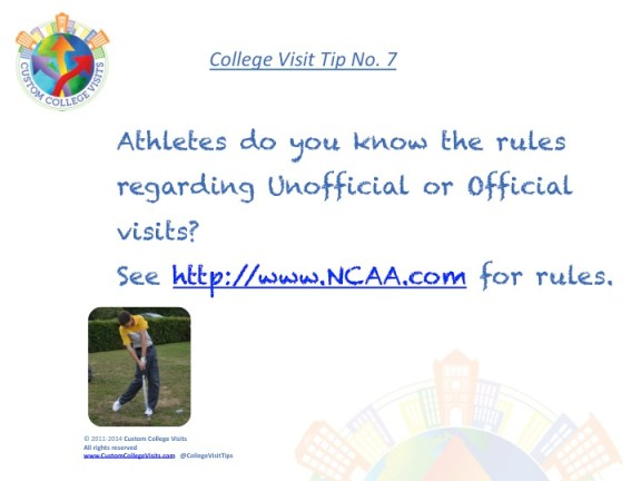 NCAA Rules for College Visits