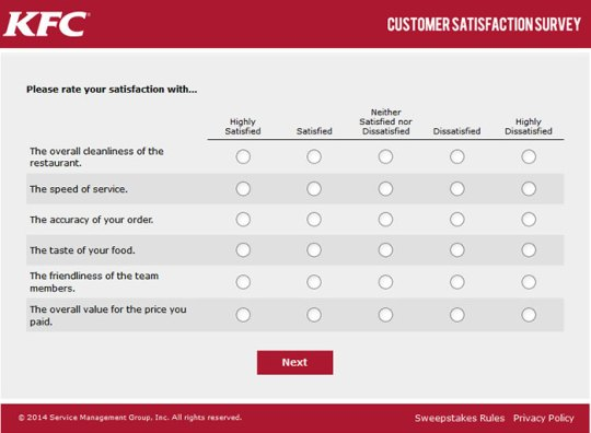 customer fast food satisfaction questionnaire Customer satisfaction survey thank you for dining with us at fast food franchise to help us maintain a high quality of service.