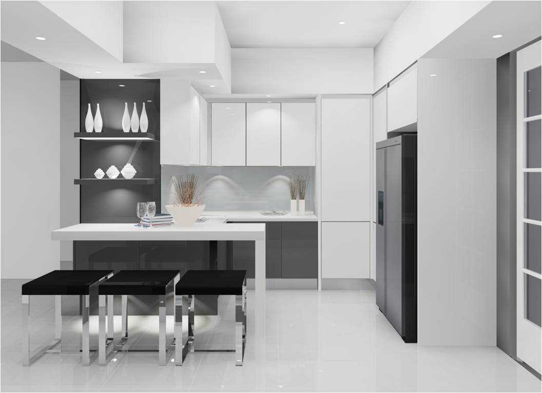 customkitchencabinetry modern kitchen cabinets Modern Custom Kitchen White NYC