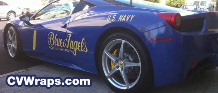 Ferrari wrap for Fleet Week