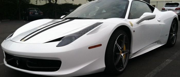 Ferrari Wrap – Black to White Color Change