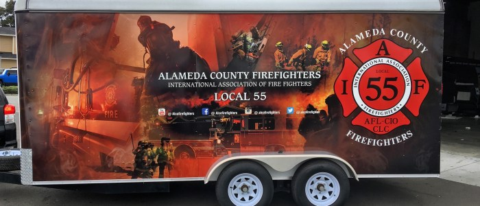 Alameda County Firefighters Trailer Wrap