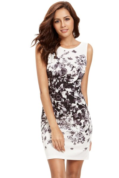 Floral Bodycon Cocktail Party Summer Dress