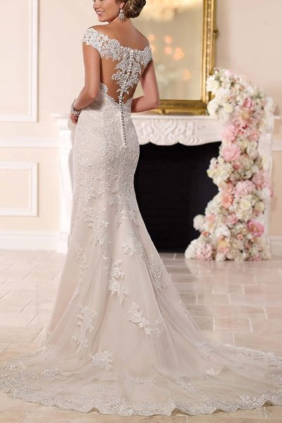 Sweetheart Off the Shoulder Mermaid Wedding Dress