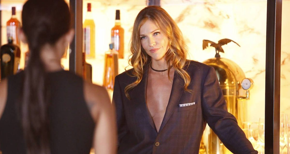 "LUCIFER: Tricia Helfer in the ""Liar, Liar, Slutty Dress on Fire"" episode of LUCIFER airing Monday, Oct. 3 (9:01-10:00 PM ET/PT) on FOX.  Cr: Bettina Strauss/FOX."