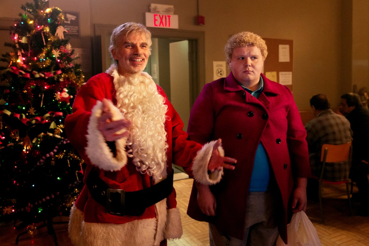 BS2-11273_CROP(l-r) Billy Bob Thornton stars as Willie Soke and Brett Kelly as Thurman Merman in BAD SANTA 2, a Broad Green Pictures and MIRAMAX release.Credit: Jan Thijs   Broad Green Pictures / Miramax