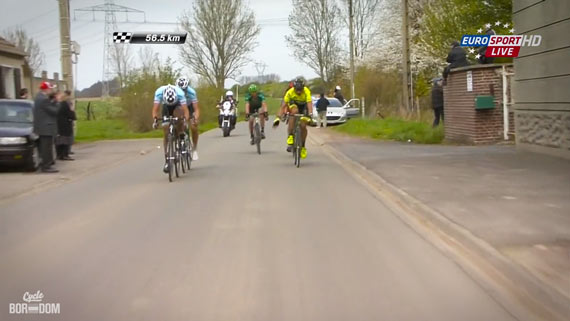 Cycleboredom | Screencap Recap: Paris-Roubaix - The Wave